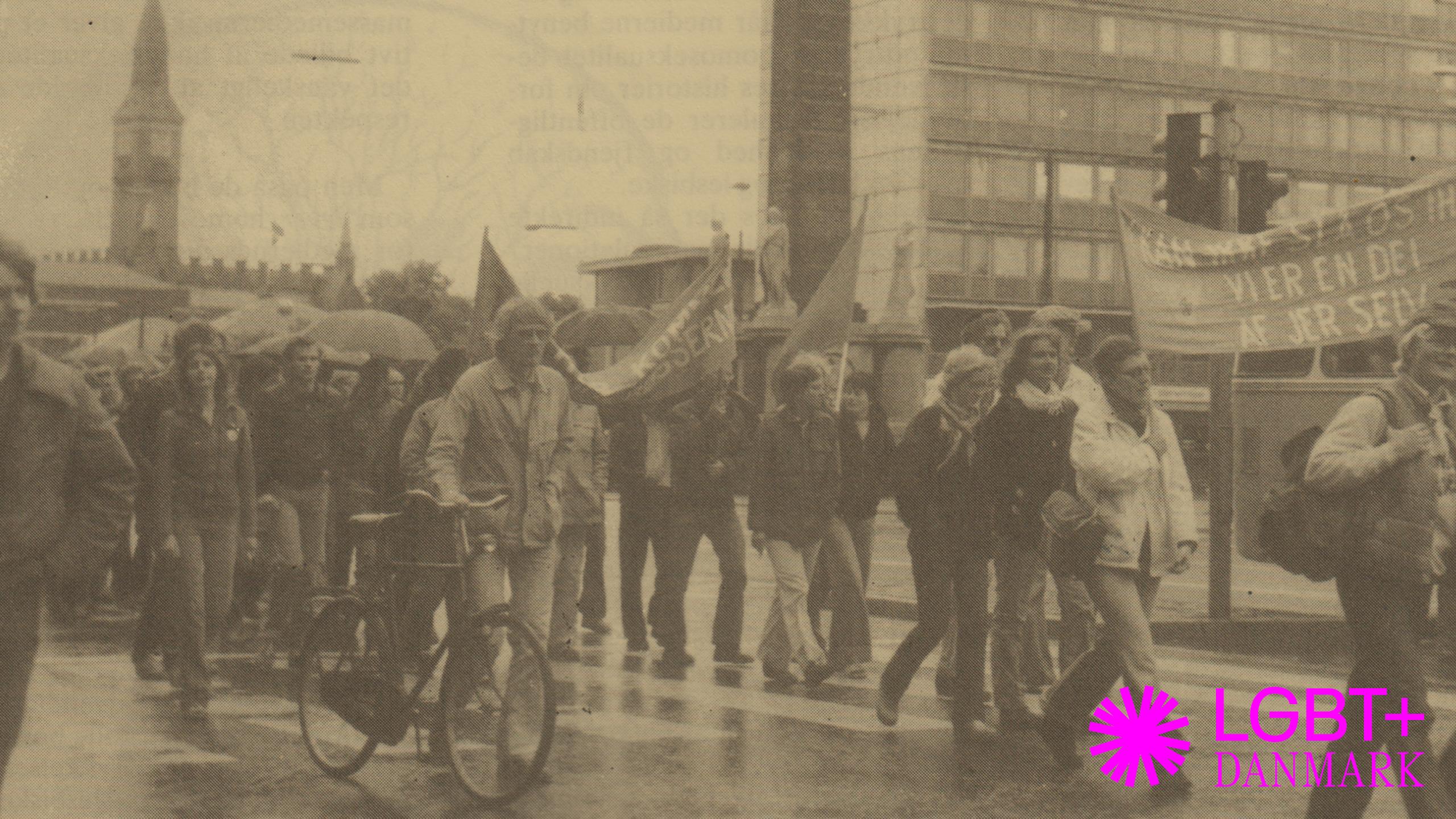 Arkivfoto af demonstration.